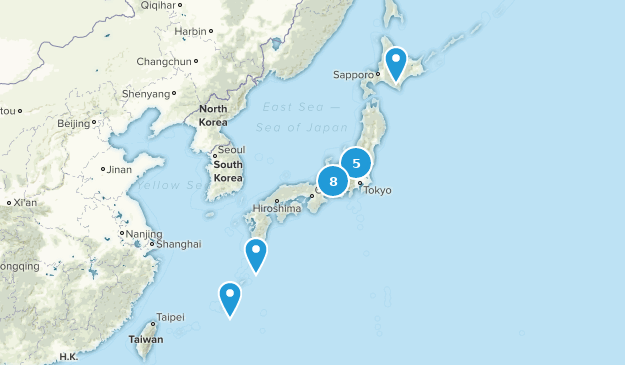 Japon Backpacking Map