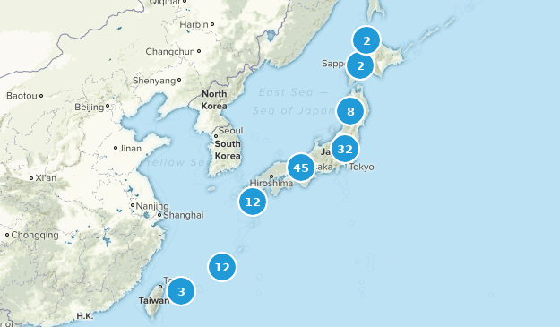 Japan Hiking Map