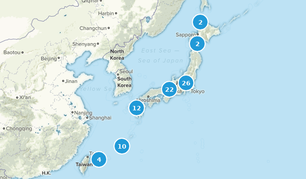 Japan Nature Trips Map