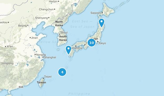 Japan Waterfall Map