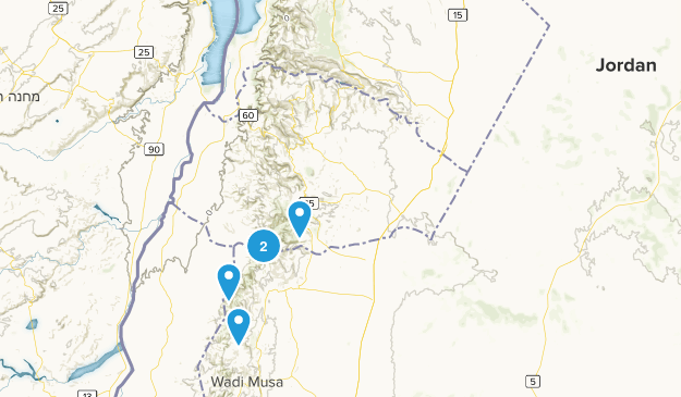 Jordan Backpacking Map
