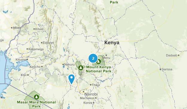 Kenya National Parks Map