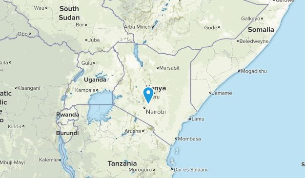 Kenya Parks Map
