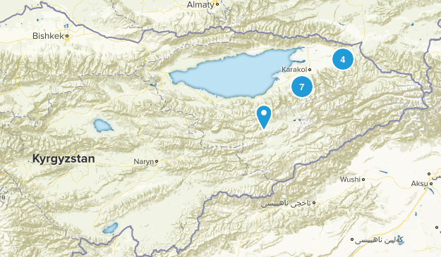 Kyrgyzstan Backpacking Map