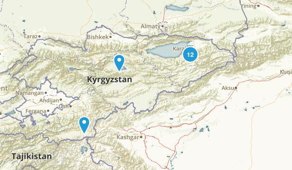 Kyrgyzstan Camping Map