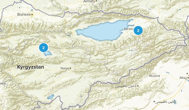 Kyrgyzstan Lake Map
