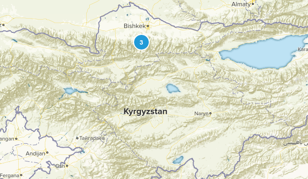 Kyrgyzstan National Parks Map