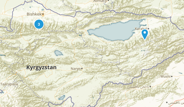 Kyrgyzstan Parks Map
