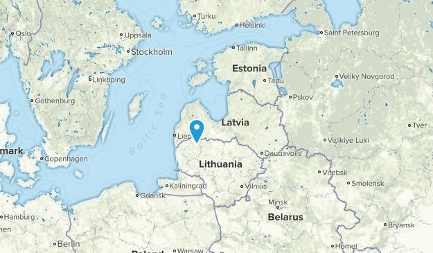 Latvia Parks Map