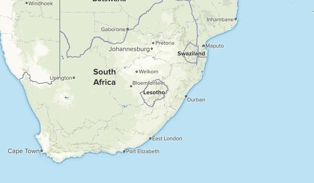 Lesotho Parks Map