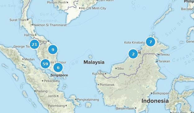 Malaysia Hiking Map