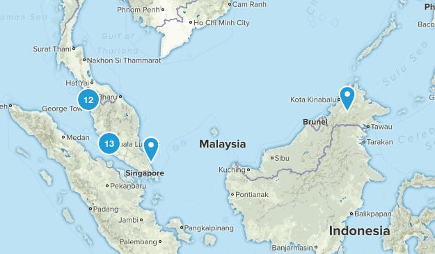 Malaysia Nature Trips Map