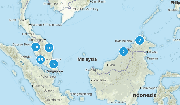 Malaisie Nature Trips Map