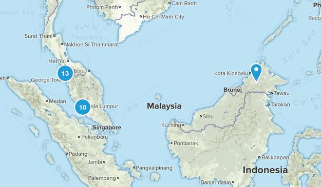 Malaysia Walking Map