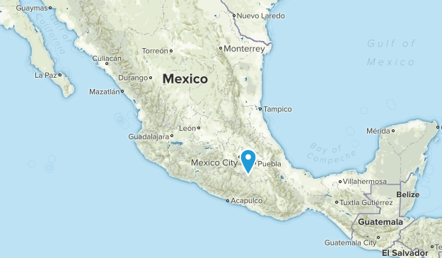 Mexico National Parks Map