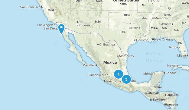 Mexico Rock Climbing Map