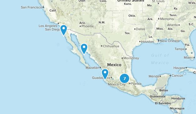 Mexique Rock Climbing Map