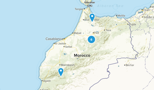 Morocco Hiking Map