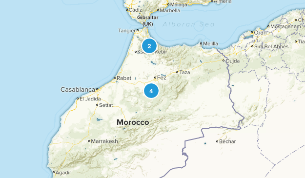 Morocco Nature Trips Map
