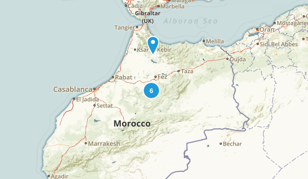Morocco Parks Map