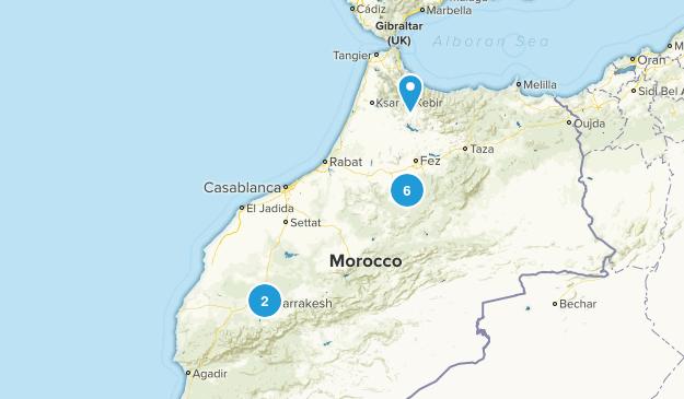 Morocco Walking Map