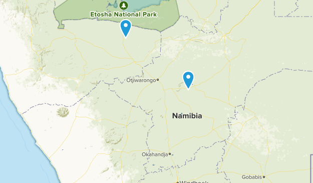 Namibia National Parks Map