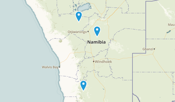 Namibia Parks Map