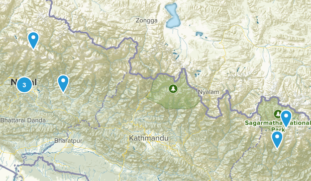 Nepal Lake Map