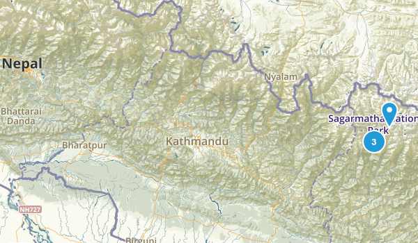 Nepal National Parks Map