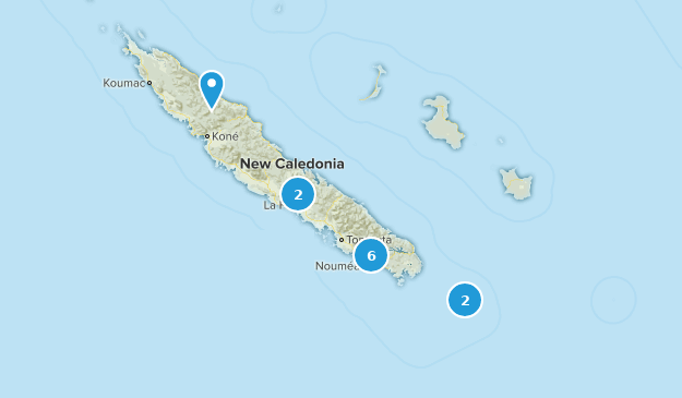 New Caledonia Nature Trips Map