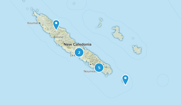 New Caledonia Wildlife Map