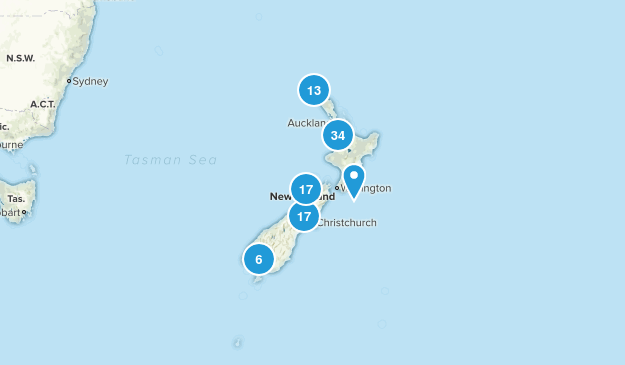 New Zealand Beach Map