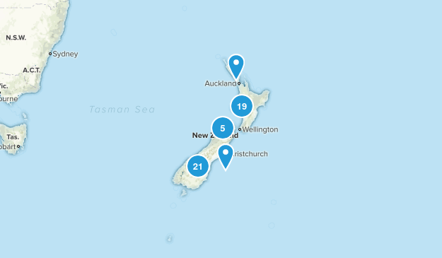 New Zealand Camping Map