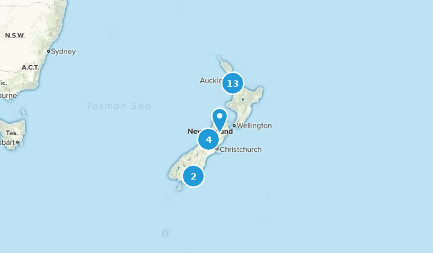 New Zealand Cave Map