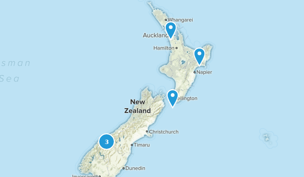 New Zealand Fishing Map