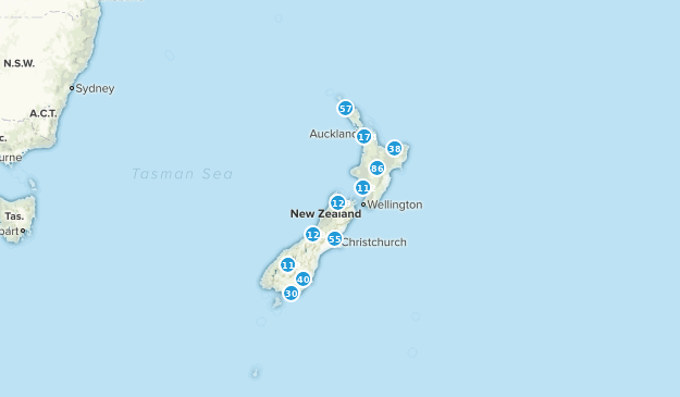A Map Of New Zealand.Best Hiking Trails In New Zealand Alltrails