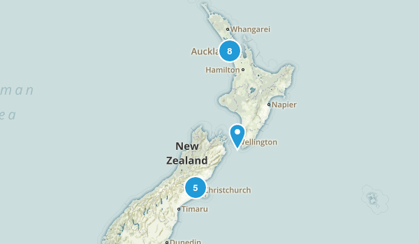 New Zealand Historic Site Map