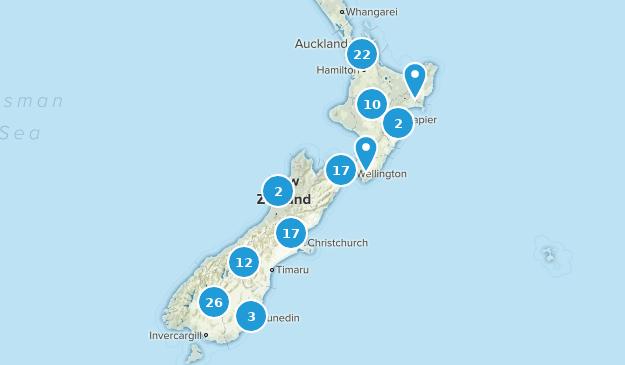Nouvelle-Zélande Mountain Biking Map