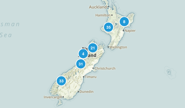 New Zealand National Parks Map