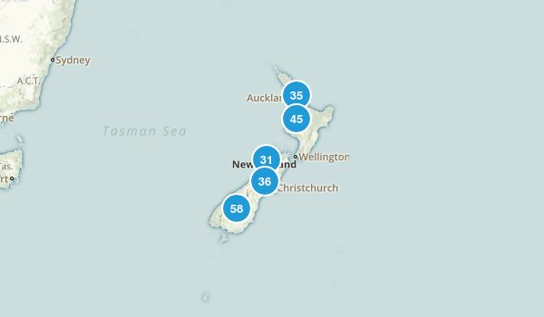 New Zealand Parks Map