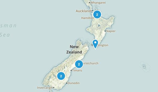 New Zealand Rails Trails Map