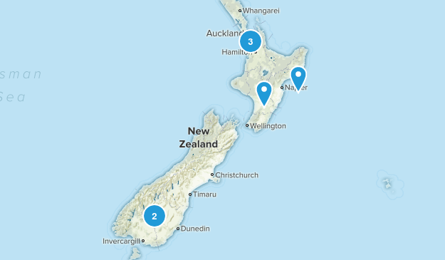 New Zealand Road Biking Map