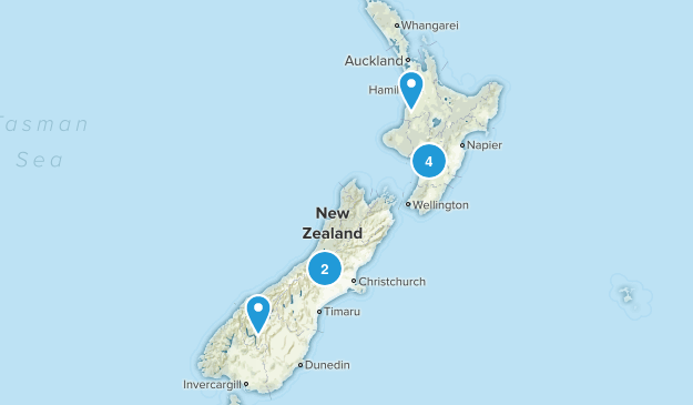 New Zealand Scenic Driving Map