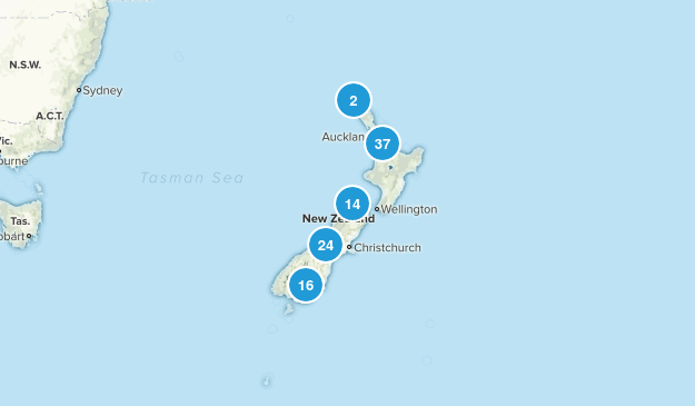 New Zealand Trail Running Map