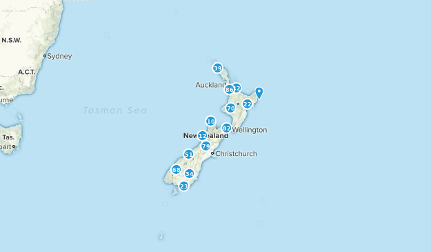 New Zealand Walking Map