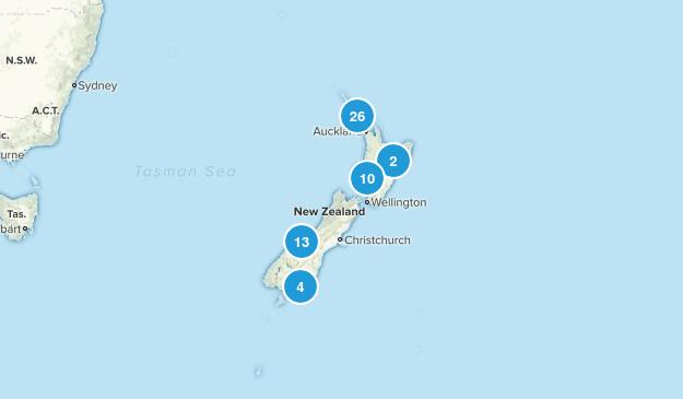 New Zealand Waterfall Map