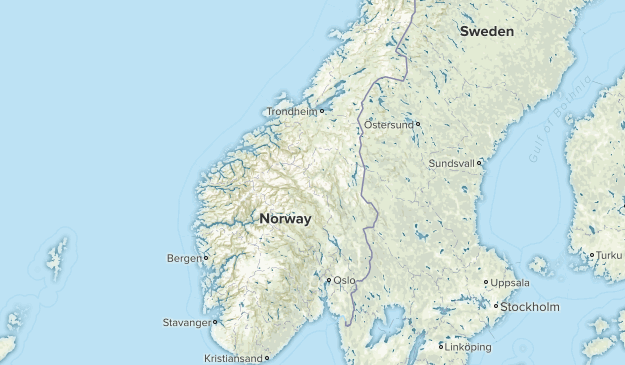Norway National Parks Map