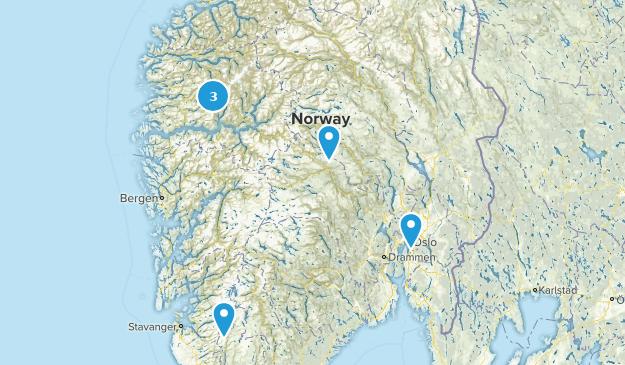Norway Snowshoeing Map