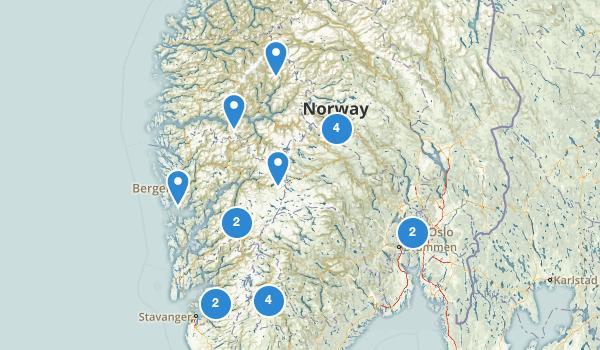 Norway Walking Map