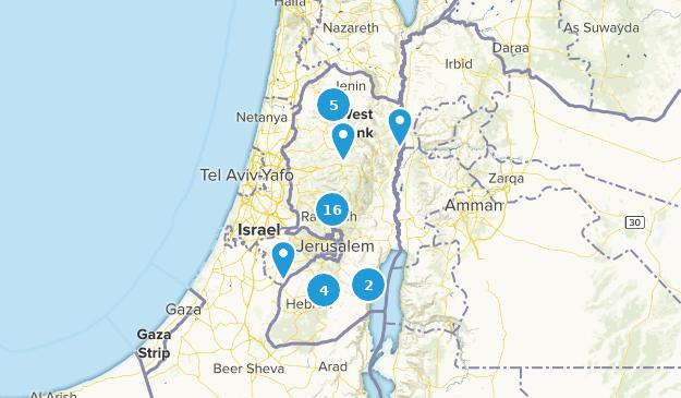 État de Palestine Hiking Map